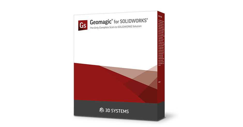 Geomagic for SOLIDWORKS 3D 스캐닝 소프트웨어