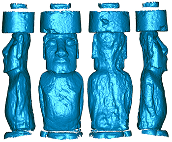 completed 3D scan data processed in Geomagic to become usable 3D data